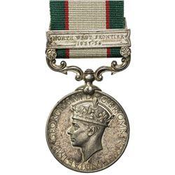 GREAT BRITAIN: George VI, 1936-1952, AR medal, Calcutta Mint. EF