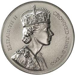 GREAT BRITAIN: Elizabeth II, 1952-, AR coronation medal (79.06g), 1953. UNC