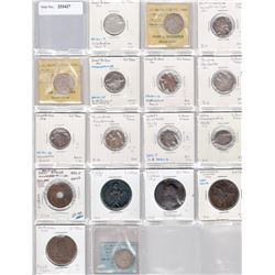 GREAT BRITAIN AND COLONIES: Lot of 17 pieces