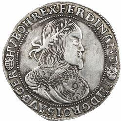HUNGARY: Ferdinand III, 1637-1657, AR thaler (27.73g), 1655-KB. VF