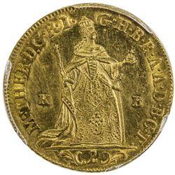 HUNGARY: Maria Theresia, 1740-1780, AV 2 ducat, 1765-KB. PCGS UNC