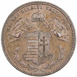 HUNGARY: Franz Joseph I, 1867-1918, AE 4 krajczar, 1868. NGC MS64