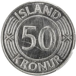 ICELAND: Republic, 50 kronur, 1939-1971. PCGS SP64