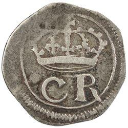 IRELAND: Charles I, 1625-1649, AR sixpence, ND (1643-4). F