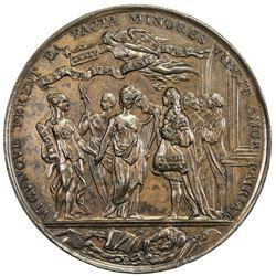 IRELAND: AE medal (39.20g), 1753. EF-AU
