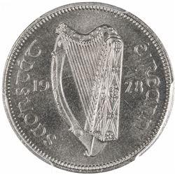 IRELAND: Irish Free State, 6 pence, 1928. PCGS PF65