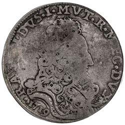 MODENA: Rinaldo d'Este, 1706-1737, AR scudo, 1719. ICG G4