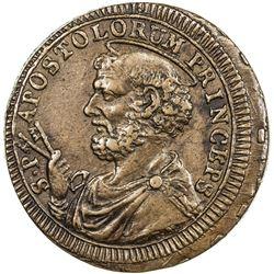 PAPAL STATES: Pius VI, 1775-1799, AE 2 1/2 baiocchi (17.08g), 1796. EF