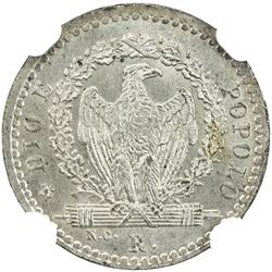 ROMAN REPUBLIC: Second Republic, 1848-1849, AR 4 baiocchi, 1849-R. NGC MS66