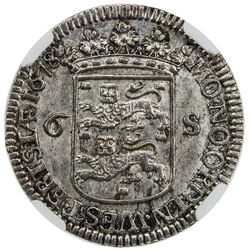 WEST FRIESLAND: AR 6 stuivers, 1678. NGC MS64