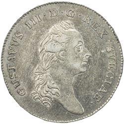 SWEDEN: Gustav III, 1771-1792, AR riksdaler, 1782. EF