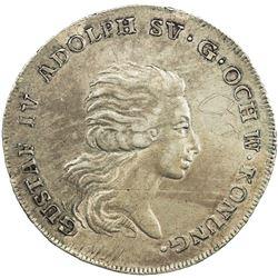 SWEDEN: Gustav IV Adolf, 1792-1809, AR riksdaler, 1795. VF-EF