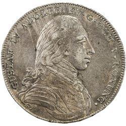 SWEDEN: Gustav IV Adolf, 1792-1809, AR riksdaler, 1801. VF-EF