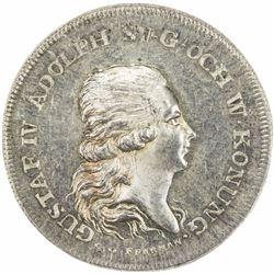 SWEDEN: Gustav IV Adolf, 1792-1809, AR medal (13.26g), 1800, choice UNC