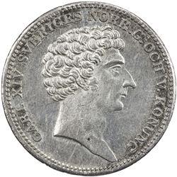 SWEDEN: Carl XIV Johan, 1818-1844, AR 1/3 riksdaler, 1829. EF-AU