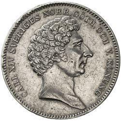SWEDEN: Carl XIV Johan, 1818-1844, AR 1/2 riksdaler, 1831. EF