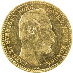 SWEDEN: Carl XV Adolf, 1859-1872, AV carolin, 1868. AU