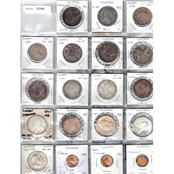 SWEDEN:LOT of 19 silver and GOLD coins