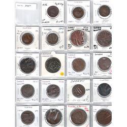 SWEDEN:LOT of 19 copper coins