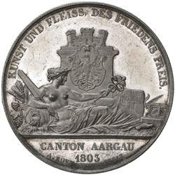 AARGAU: AR shooting medal (23.85g), 1849