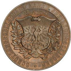 AARGAU: AE shooting medal (27.68g), 1896. UNC