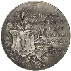 BASEL: AR shooting medal (30.39g), 1900. AU