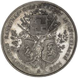 BERN: AR shooting medal (36.65g), 1888. UNC