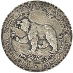 BERN: AR shooting medal (39.64g), 1897. AU