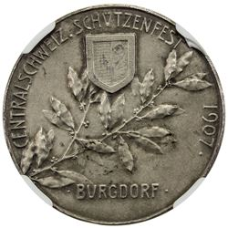 BERN: AR shooting medal, 1907. NGC MS64