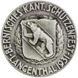 BERN: AR shooting medal (16.49g), 1931. UNC