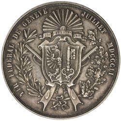 FREIBURG: AR shooting medal (24.15g), 1851. EF