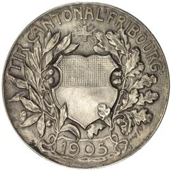 FREIBURG: AR shooting medal (17.96g), 1905. AU