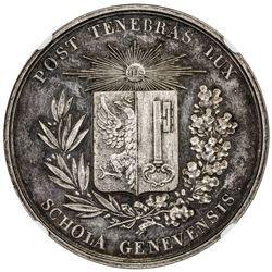 GENEVA: AR prize medal (26.7g), ND (ca. 1880?). NGC MS62