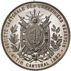 GENEVA: AR shooting medal (31.49g), 1882. PF