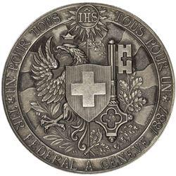 GENEVA: AR shooting medal (38.70g), 1887. UNC