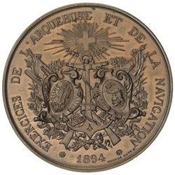 GENEVA: AE shooting medal (59.78g), 1894. UNC