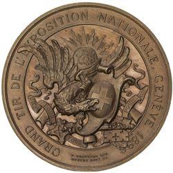 GENEVA: AE shooting medal (46.49g), 1896. UNC