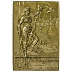 GENEVA: AE shooting plaque (62.83g), 1902. AU