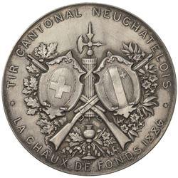 LUZERN: AR shooting medal (35.72g), 1886. UNC