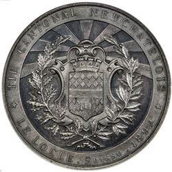 NEUCHATEL/NEUENBURG: AR shooting medal, 1892. NGC PF64
