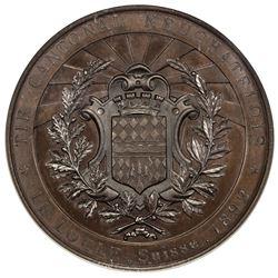 NEUCHATEL/NEUENBURG: AE shooting medal, 1892. NGC MS66