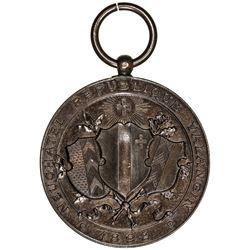 NEUCHATEL/NEUENBURG: AE shooting medal (17.98g), 1898. UNC