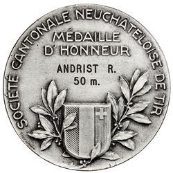 NEUCHATEL/NEUENBURG: AE shooting medal (88.77g), ND (1926). AU