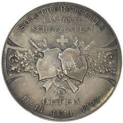 SOLOTHURN: AR shooting medal (39.30g), 1897. UNC