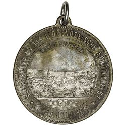 THURGAU: AE shooting medal (18.02g), 1890. UNC