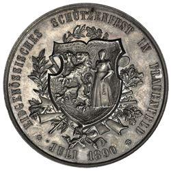 THURGAU: AR shooting medal (38.64g), 1890. UNC