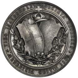 TICINO: AR shooting medal, 1889. NGC MS64