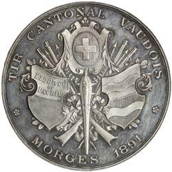 VAUD: AR shooting medal (38.55g), 1891. AU