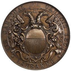 VAUD: AE shooting medal, 1894. NGC MS66