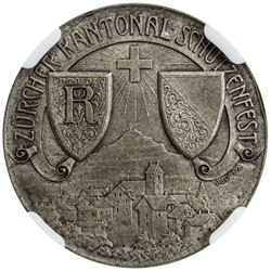 ZURICH: AR shooting medal, 1906. NGC MS66